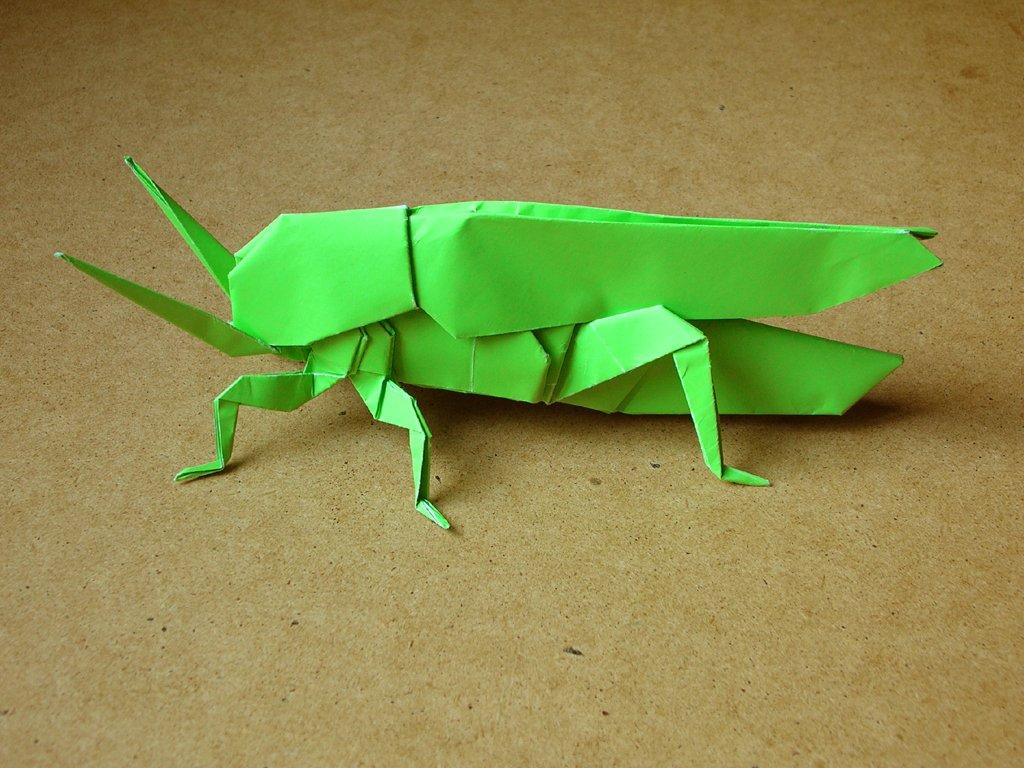 Как сделать кузнечик оригами