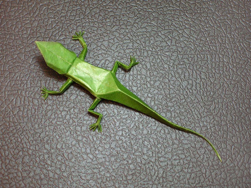 Как из бумаги сделать ящерицу оригами - Visit-petersburg.com