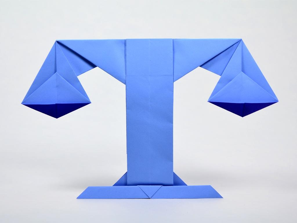 Оригами знак зодиака весы